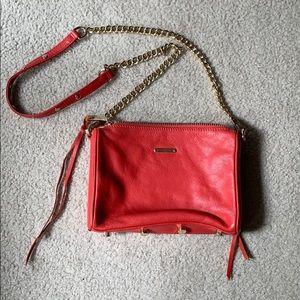Rebecca Minkoff mini 5 zip crossbody red